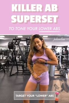 VISIT FOR MORE This killer ab superset is great for those looking for more than a six pack abs. Do these abdominal exercises to tone and tighten your lower abs. Also, use the abdominal muscle stimulator to speed up the muscle toning process. Fitness Workouts, Fitness Motivation, Abs Workout Routines, Toning Workouts, Workout Videos, Yoga Fitness, Health Fitness, Fitness Hacks, Inner Leg Workouts
