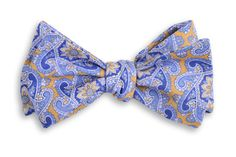 High Cotton   Yellow Derby Paisley Bow Tie