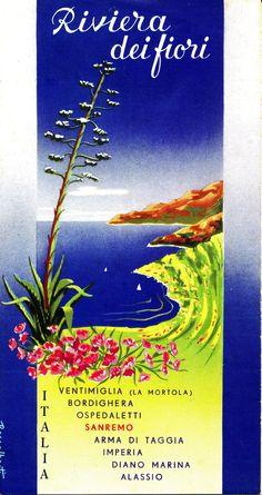 Opuscolo pubblicitario degli alberghi della Riviera dei Fiori (1956)