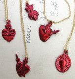 Bleeding Heart Milagro Necklaces by Erica Weiner