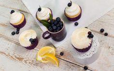 Borůvkové cupcakes s vanilkovým krémem / bezlepkové » Pečení je radost