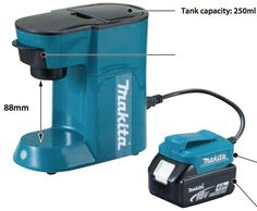 Makita DCM500Z 18V Li-Ion Mobile LXT Coffee Maker. No, this is *not* an early April Fools Day joke!