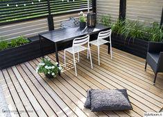 Rivitalopiha - Sisustuskuva jäseneltä jaana_k - StyleRoom. Outdoor Furniture Sets, Outdoor Decor, Black And White, Wood, Garden, Table, House, Balcony, Home Decor