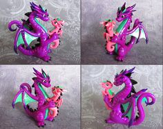 Mama and Baby Dragon by DragonsAndBeasties.deviantart.com on @deviantART