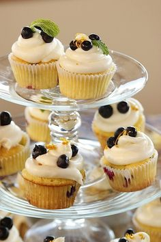 Blueberry Lemon Cupcakes that I am making for Easter Brunch! They have lemon cream cheese icing. Just Desserts, Delicious Desserts, Dessert Recipes, Yummy Food, Brunch Recipes, Lemon Blueberry Cupcakes, Food Network Recipes, Cooking Network, Ree Drummond