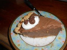 GONE TO HEAVEN CHOCOLATE PIE #creamy #Chocolate-pie #chocolate #justapinchrecipes Cream Pie Recipes, Pie Crust Recipes, Cake Recipes, Dessert Recipes, Pie Fillings, Pudding Recipes, Dessert Ideas, Sweet Recipes, Baking Recipes