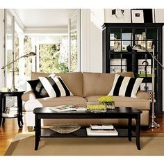 #livingrooms-color scheme, tan, black and white.