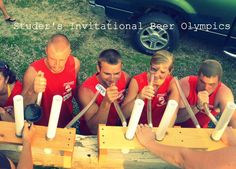 Beer Olympics - good ideas & donate additional money to charity