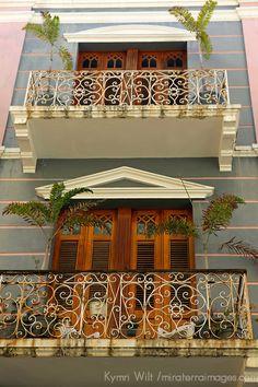 Facades of Old San Juan ~ architecture of Puerto Rico ~ UNESCO World Heritage Site