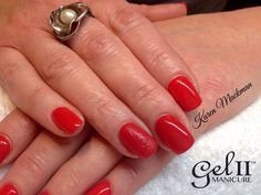 Gel II™ Was I a Going That Fast? With Matte ring finger and gloss nail art