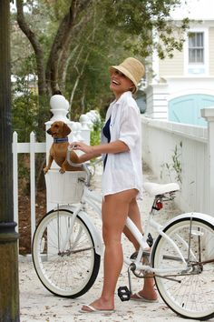 Got the Dog, got the bike, now just to get this look for this coming summer...lots of leg work outs.