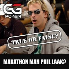 The longest marathon poker game played by an individual lasted 115 hours. It was achieved by Phil Laak in June 2010. The event was streamed online and viewed by 117000 people. A large amount of the prize money was donated to a children's charity after the fact. True or false? Answer correctly underneath to be in with a chance to win some complimentary tickets.  #marathonman #endurance #ironman #phillaak #unabomber #ggpoker #poker #onlinepoker #trueorfalse #instacomp #prizes #free…
