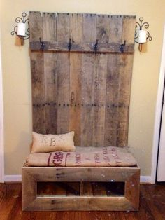 oooh need this entryway pallet bench