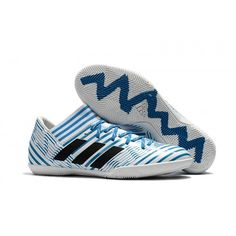 newest 44d9a 8371b Pas Cher Adudas Nemeziz Tango 17.3 IC Chaussures de football bleu noir blanc