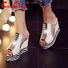 Mujeres verdadera del cuero genuino wedges sandals peep toe toesummer plataforma atractiva de moda calzado altos calzan el tamaño 34-39 R08434(China (Mainland))