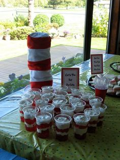 Cat in the Hat parfaits :)