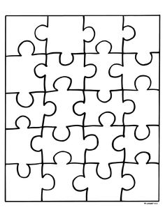 Kleurplaat Puzzelstukjes - Kleurplaten.nl Blank Puzzle Pieces, Puzzle Piece Crafts, Paper Gift Box, Learn Art, Fathers Day Crafts, Book Projects, School Gifts, Art Challenge, Drawing For Kids