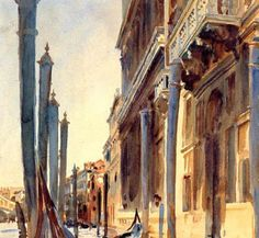 Grand Canal, Venice - John Singer Sargent hand-painted oil painting reproduction,main channel snakes through bulk of the islands of Venice National Gallery Of Art, Art Gallery, Giovanni Boldini, John Singer Sargent Watercolors, Paris, Grand Canal Venice, Art Watercolor, Watercolour Illustration, Oil Painting Reproductions