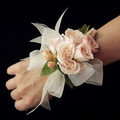 Send the Classic Blush Pink Wrist Corsage bouquet of flowers from The Little Flower Shop in Westwood Hills, KS. Local fresh flower delivery directly from the florist and never in a box! Small Wedding Bouquets, Wedding Brooch Bouquets, Corsage Wedding, Bride Bouquets, Floral Wedding, Boquet, Prom Flowers, Bridal Flowers, Wristlet Corsage