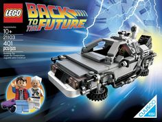Official LEGO 'Back to the Future' DeLorean Time Machine Playset