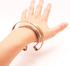 "negative space cuff by ""mikinora"" on etsy"