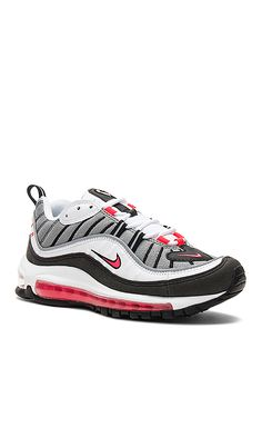 best sneakers 98a6a 97141 Nike КРОССОВКИ AIR MAX 98 в цвете White, Solar Red, Dust  Reflective  Silver  REVOLVE