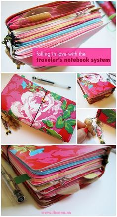 Here's a DIY Traveler's Notebook Flipthrough, sharing all the goodness inside it. Because I am Falling in Love with the Traveler's Notebook System! Yum!