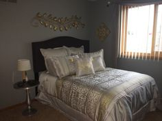 43 best silver and gold bedroom images in 2014 gold bedroom guest rh pinterest com silver and gold bedroom ideas silver and gold bedroom designs