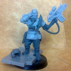 Matthew Saville uploaded this image to 'Inq Owain'. See the album on Photobucket. 40k Imperial Guard, Super Model, Fantasy Miniatures, The Grim, Warhammer 40k, Minis, Projects To Try, Album, Models