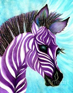 Purple Baby Zebra Print By Janine Riley