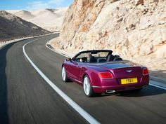 2014 Bentley Continental GT Speed Convertible Rear Side View Concept