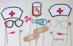 Nursing Photo Booth Props Nurse Graduation Nurse Fun
