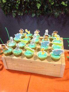 Muffin allo yogurt decorati a tema giungla