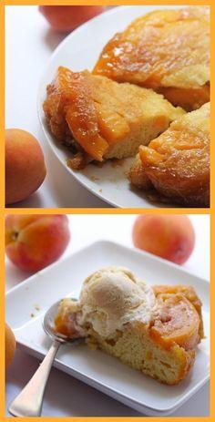 Peach Upside Down Cake #recipe #summer #dessert