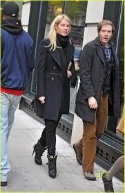 Gwyneth Paltrow street style - black ankle boots with buckles