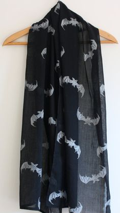 Halloween Bats Hand block printed Indian cotton by KerryCherry, $23.00