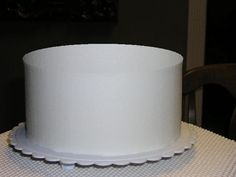 How to get a perfectly flat top when frosting a cake. Genius idea!