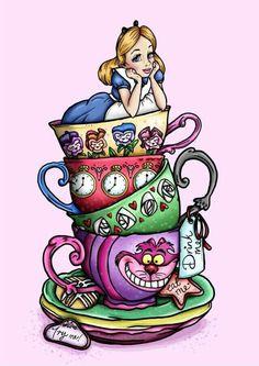 Alice e as xícaras