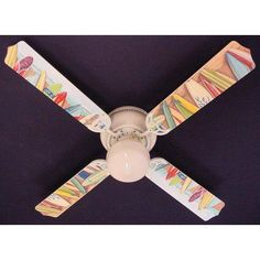 Ceiling Fan Designers Hawaiian Surfboards Indoor Ceiling Fan - 42FAN-KIDS-HSSB