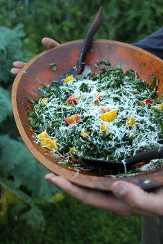 Kale Caesar Salad!  Kitchen Vignettes by Aubergine