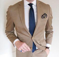 #Tan #Khaki #Wedding #Suit #Mens #Fashion #Style