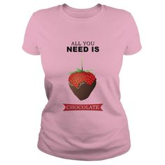 Strawberry Chocolate T-Shirts, Hoodies. Get It Now ==> https://www.sunfrog.com/Funny/Strawberry-Chocolate-Light-Pink-Ladies.html?id=41382