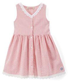 Look at this #zulilyfind! Red Seersucker Button-Up Dress - Infant, Toddler & Girls #zulilyfinds