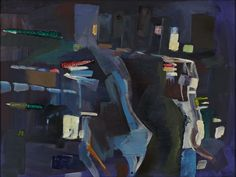 """Abstract City by Barbara Beatty, oil on canvas, 18 x 24"""""""