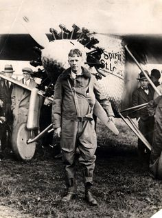 Charles A. Lindbergh, the American aviator who became the first man to fly the Atlantic solo nonstop from the United States to Europe    #history #photooftheday #awesome #oldphoto #oldphotos #oldphotograph #retrophoto #oldphotographs #oldphotography #oldphotoshoot #retrophotography #retrophotos #historicalpics #historicalphotos #picryl #aviation #lindberg