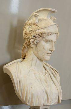 Roma, Roman bust (marble), 1st–2nd century AD, (Musée du Louvre, Paris).