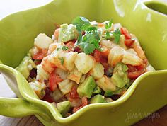 Zesty Lime Shrimp and Avocado Salad! I REALLY need my personal chef to make this for me for lunch today! ;-)