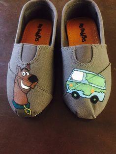 d6c7928cb2e Scooby Doo Toms Hand Painted Shoes