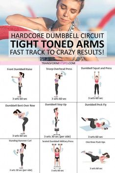 Tone and Tighten Your Arms! Dumbbell Progressive Circuit to Get CRAZY Results.. - Dumbbell - Ideas of Dumbbell #Dumbbell - #tighttonedarms #dumbbellforwomen #womensworkouts #femalefitness Start getting physical Grab a dumbbell to work those arms and get tightly toned arms with crazy r #absworkoutathomelower