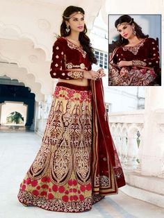 It will bring a new sprit of luxury and glamour for you.  Item code: GHP1117 http://www.bharatplaza.com/new-arrivals/lehengas.html
